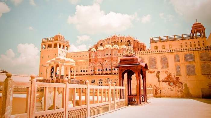 effect of hawa mahal Stock video footage hawa mahal is a major landmark and a famous tourist  attraction of jaipur the palace offers a beautiful sight to behold the splendid.