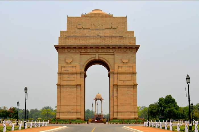India Gate on Lines Symmetry 2