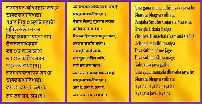 essay on national anthem of india