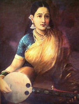 A Lady Playing Swarbat