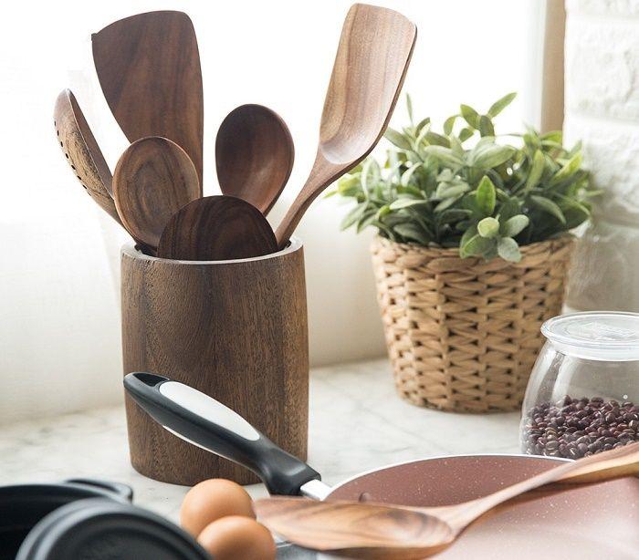 Teak Wood Kitchen Ware