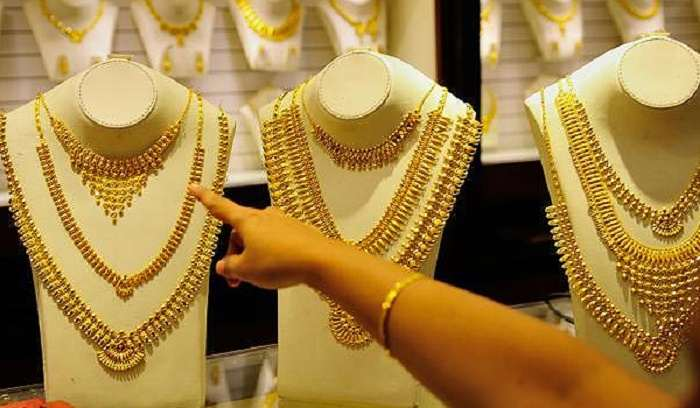 Indian woman loves and adores her gold