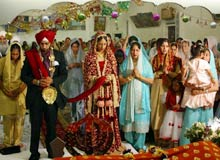 Sikh marriages are also quite elaborate and extend over a time period